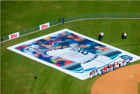 The world's largest baseball card.