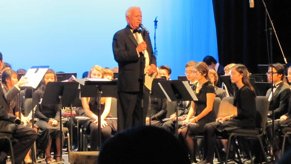 Conductor Larry G. Curtis leads the Honor Band Concert on Feb. 7.