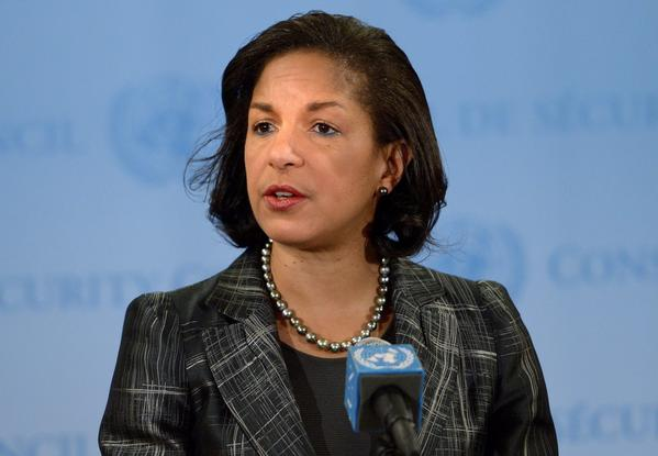 Susan Rice, U.S. ambassador to the United Nations, speaks after an emergency Security Council meeting on North Korea.