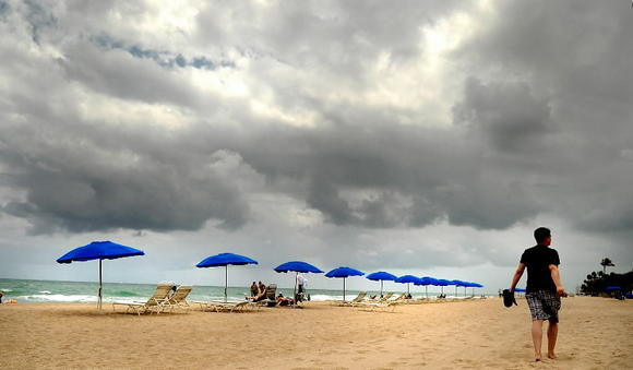 Clouds over Fort Lauderdale beach.