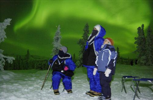 The northern lights entrance tourists near Fairbanks, Alaska. The aurora borealis is supposed to be especially vivid in northern skies for the next few winters.