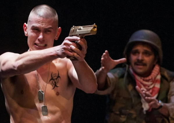 """JJ Phillips as Kev and Anish Jethmalani as Musa in """"Bengal Tiger at the Baghdad Zoo."""""""