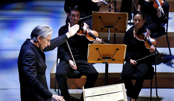 Michael Tilson Thomas conducts 'The Seasons' in the New World Symphony's John Cage festival.