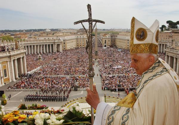 Pope Benedict XVI celebrates Easter at St. Peter's Square in April 2006. The pontiff has suffered health setbacks since being elected to the papacy in 2005, and the weight of the office compelled him to announce this week that he would resign at the end of February.