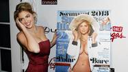 Kate Upton poses at the launch party of the Sports Illustrated's 2013 Swimsuit issue