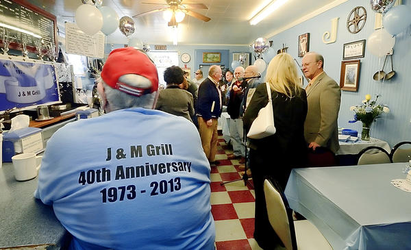 A 40th anniversary celebration was held Tuesday at J&M Grill on S. Potomac Street in Hagerstown.