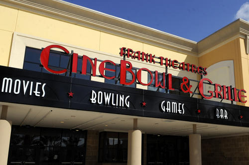 Frank Theatres CineBowl & Grille, one of the anchors for the new 258,000-square foot Delray Marketplace, is opening Feb. 13. It's a 12-screen movie theater with reserved seating, a full-service restaurant and bar, 16 VIP lounge style bowling lanes, arcade and more.