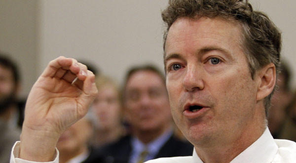 Sen. Rand Paul (R-Ky.) testifies before a state legislative committee on the legalization of growing hemp.