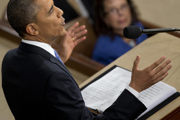 President Obama delivers the State of the Union address to a joint session of Congress at the Capitol in Washington, D.C.