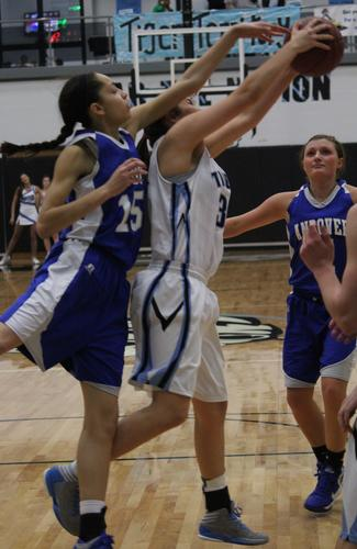 The Goddard Eisenhower boys squeaked out a 48-43 victory over Andover. The Andover girls rolled to a 62-42 win.