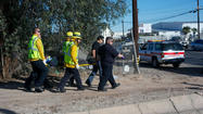 EL CENTRO - A 46-year-old male was struck by a pickup while sitting next to a dirt track by a canal near Dogwood Road and Main Street on Tuesday afternoon.