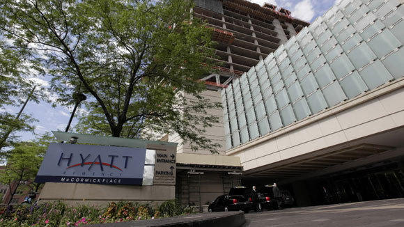 The Hyatt hotel at McCormick Place.