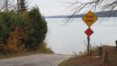 Resort Township officials hope to upgrade this portion of Townsend Road leading up to Walloon Lake, shown in October 2012, to improve on public lake access.