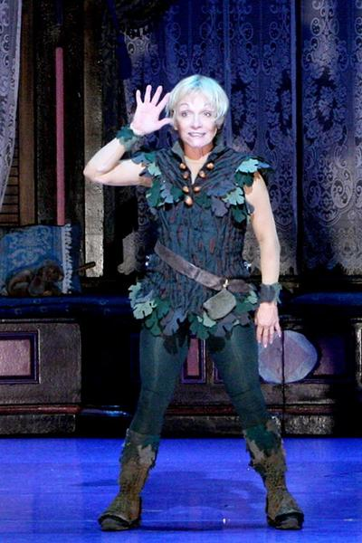 "Cathy Rigby stars in another tour of ""Peter Pan."""