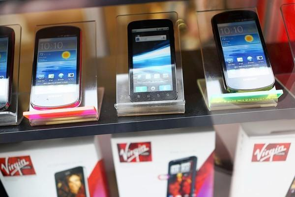 Mobile phone sales declined in 2012, the first time that happened since 2009.