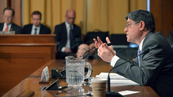 Former White House Chief of Staff Jacob J. Lew testifies before the Senate Finance Committee on his nomination to be Treasury secretary.