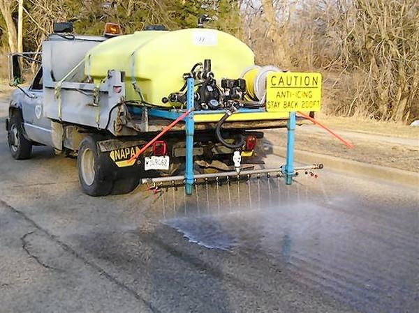 The village of Wauconda currently uses a brine truck to de-ice roads.