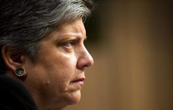 Homeland Security Secretary Janet Napolitano testifies before the Senate Judiciary Committee on Capitol Hill.