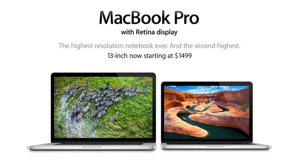 Apple has cut the price of its 13-inch MacBook Pro Retina, which debuted in October.