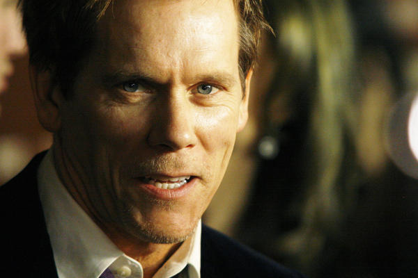 "Actor Kevin Bacon attends an event in New York tied to the premiere of ""The Following."""