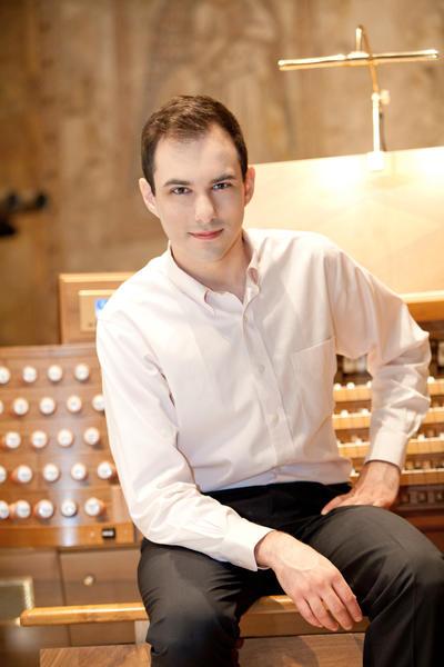 Organist Christopher Houlihan.