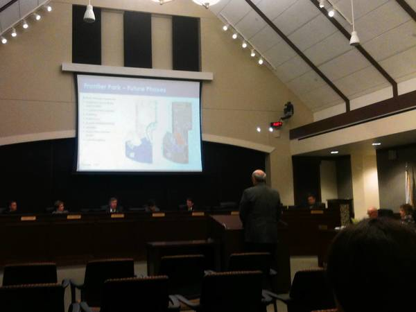 Arlington Heights Park District officials present an improvement plan to the Village Board.