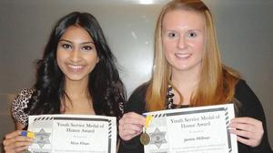 Students' volunteerism nets sheriff's awards