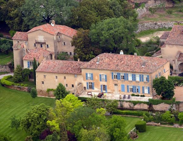 Brad Pitt and Angelina Jolie's new home and winery, Chateau Miraval, in France.