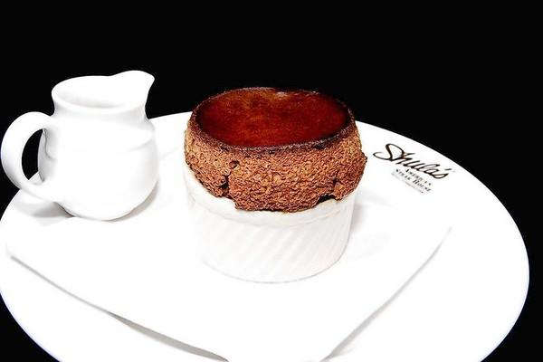 Shula's Steak House's rich chocolate soufflé.