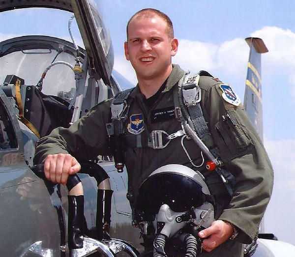 Capt. Jeff Haney, 31, died when his F-22 crashed in the Alaskan wilderness in 2010.