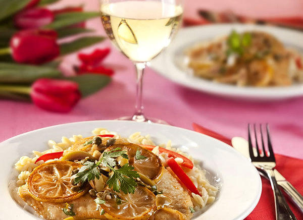 <b>Scaloppine in lemon sauce</b><br> <br> Prep: 20 minutes<br>