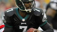 In Week 2 of the NFL season. Michael Vick passed for 371 yards and rushed for a touchdown in the final two minutes to give the Philadelphia Eagles a 24-23 victory over the Baltimore Ravens.