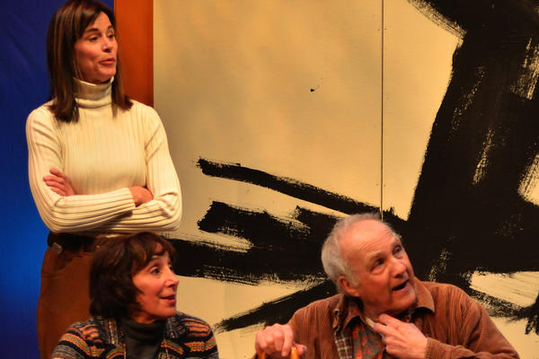 "Jayne Brook, standing, Didi Conn and Lawrence Pressman in ""A Heap of Livin'"" at the Odyssey Theatre."