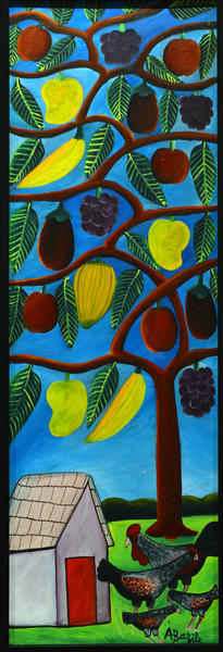 Untitled, n.d., Acrylic on canvas, Alberoi Bazille Haitian, 1920-2005 Allentown Art Museum is presenting Haitian art from the Rodale collection.