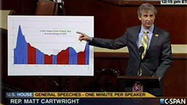 For his very first speech on the House floor, which lasted just over one minute, U.S. Rep. Matt Cartwright brought a chart.