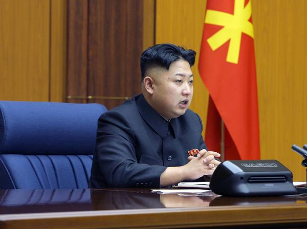 North Korean leader Kim Jong-Un presides over an enlarged meeting of the Central Military Commission of the Workers' Party in this undated recent picture released by North Korea's official KCNA news agency in Pyongyang February 3, 2013.