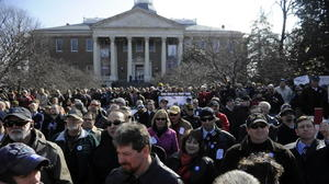 Speak out against gun control — if the General Assembly will let you