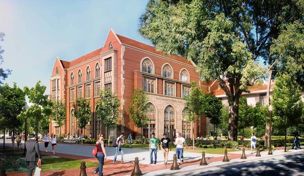 A rendering shows the $50-million Annenberg School for Communication and Journalism under construction at USC and slated for completion in fall 2014.