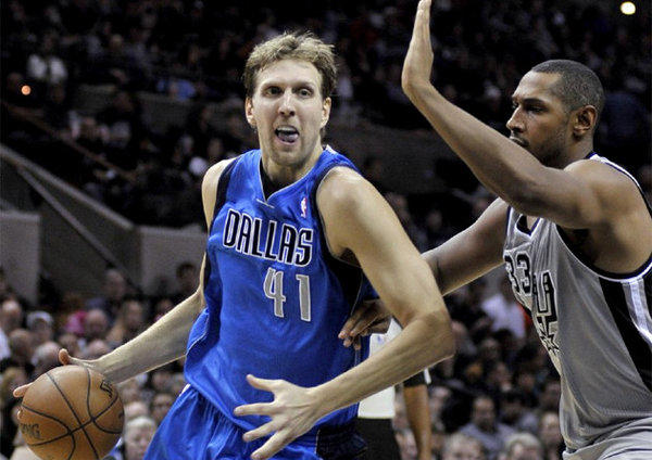 Dirk Nowitzki is averaging 15.4 points a game since returning from an early-season knee injury.