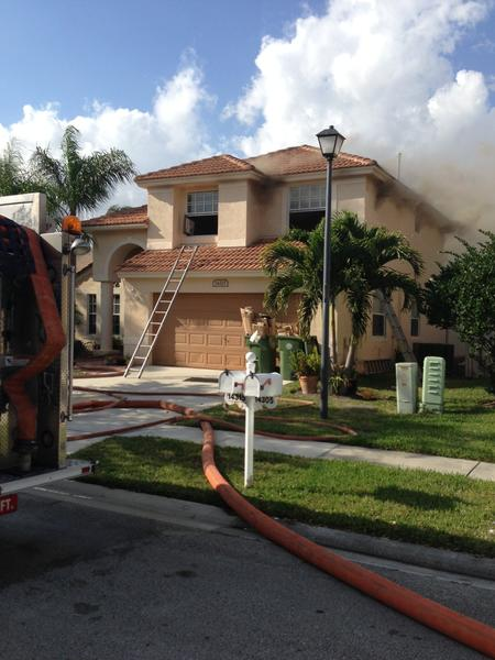 A family of four is looking for a new place to stay after flames damaged their two story home in Pembroke Pines