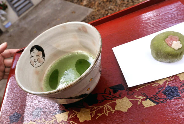 Green Tea and moshi rice cake at a Japanese Tea Ceremony in the Tea House during the Camellia Festival at the Descanso Gardens,  Sunday, February 10, 2013.