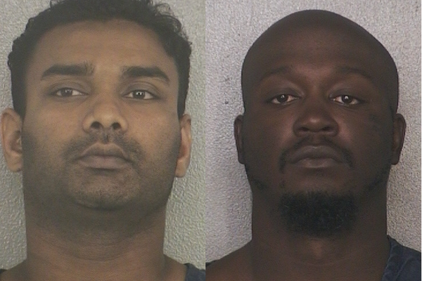 Andre Kanaya and Prince Rashad Taylor are charged with conspiring to rob a cocaine stash house in Broward County in an undercover sting, federal prosecutors said.