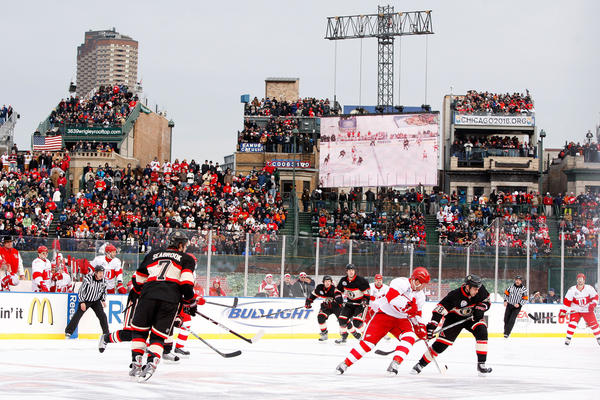 Soldier Field officials are crossing their fingers that they can cost a Blackhawks game, like Wrigley Field did in 2009.