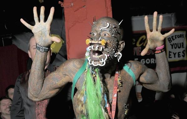 "The pierced and tattooed Marcus ""The Creature"" is a part of the Venice Beach Freakshow."