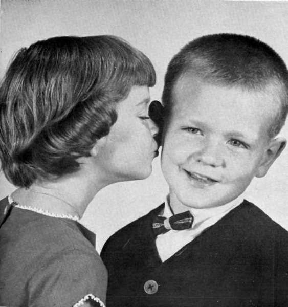 The children of Mr. and Mrs. Paul Wand, Mary Ellen, 5, and Bobby, 3, were featured on the cover of the Valley Sun for its 1963 Valentine's Day issue. The Wand family made their home in the 400 block of Paulette Place.