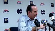 Notre Dame coach Mike Brey talks OT escape against DePaul
