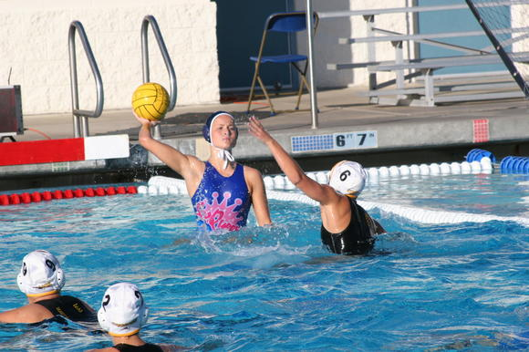 Corona del Mar High's Ioanna Haralabidis looks to pass the ball into set against Ventura.