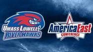Massachusetts Lowell will move up to Division I and join the America East Conference, representatives of both announced today at a rally at the Tsongas Center on campus.