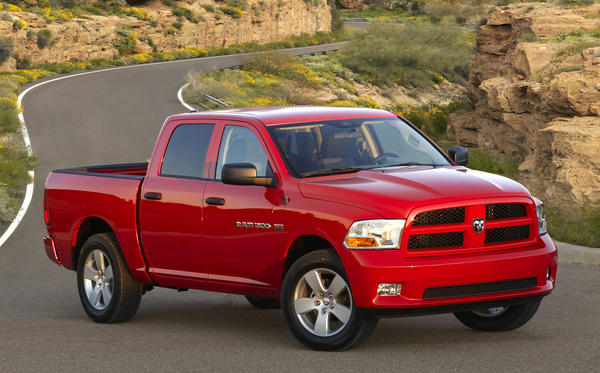 The 2012 Ram 1500 pickup is among the 360,000 trucks and sport utility vehicles recalled by Chrysler for a defect in the rear axle.