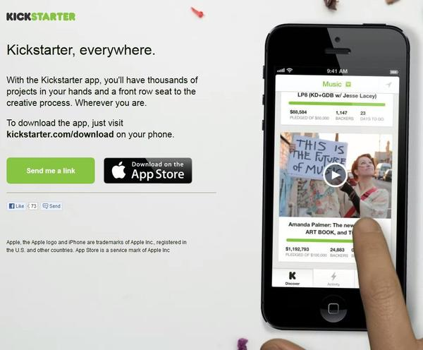 Kickstarter, the popular crowdsourcing platform, has launched an iPhone and iPod Touch app.